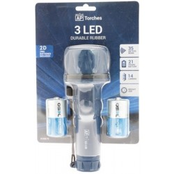 Active Products 3 Led 2d Rubber Torch