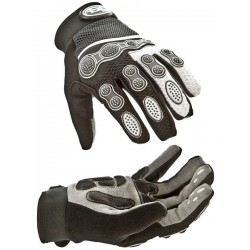 Aero Sport Bmx Gloves Black & Silver Large