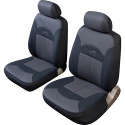 Cosmos Celsius Front Pair Seat Covers Black Grey