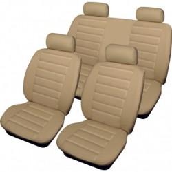 Cosmos Leatherlook Beige Full Set Seat Covers