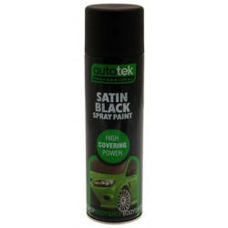 Autotek 495 Satin Black Paint 500ml