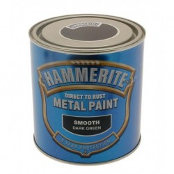 Hammerite 010 Smooth Metal Paint Dark Green 250ml