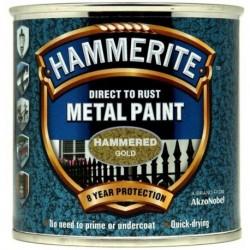 Hammerite 012 Hammered Metal Paint Gold 250ml