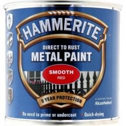 Hammerite 014 Smooth Metal Paint Red 250ml