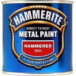 Hammerite 015 Hammered Metal Paint Red 250ml