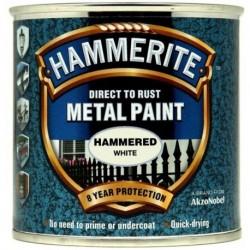 Hammerite 019 Hammered Metal Paint White 250ml