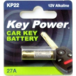 Keypower Car Keyfob Battery 27a -Alkaline 12v
