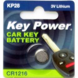 Keypower Car Keyfob Battery Cr1216 Lithium 3v