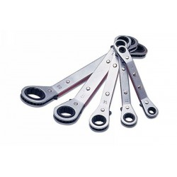 Laser Ratchet Ring Wrench Set Mm 5pc