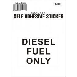 Castle Promotions Diesel Fuel Black Sticker