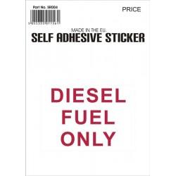 Castle Promotions Diesel Fuel Red Sticker