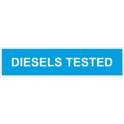 Castle Promotions Diesels Tested Sign 625mm X 150mm