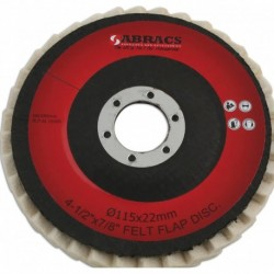 Abracs Felt Pol Disc 115mm X 22mm Pk 5