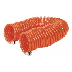 """Sealey PU Coiled Air Hose 10mtr x 6mm with 1/4""""BSP Unions"""