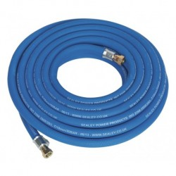 """Sealey Air Hose 10mtr x 10mm with 1/4""""BSP Unions Extra Heavy-Duty"""