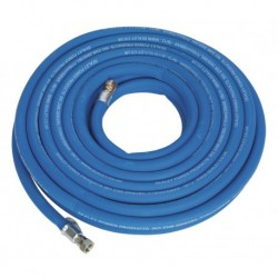 """Sealey Air Hose 15mtr x 10mm with 1/4""""BSP Unions Extra Heavy-Duty"""