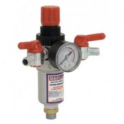 "Sealey Air Filter/Regulator 3/8""BSP Male - 1/4""BSP Male"