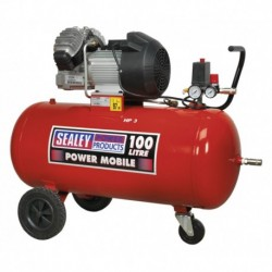 Sealey Compressor 100ltr V-Twin Direct Drive 3hp