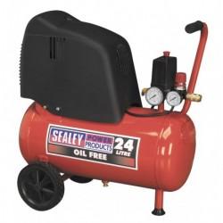 Sealey Compressor 24ltr Belt Drive 1.5hp Oil Free