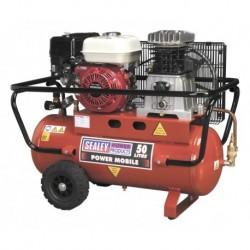 Sealey Compressor 50ltr Belt Drive Petrol Engine 5.5hp