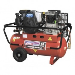 Sealey Compressor 50ltr Belt Drive Petrol Engine 4hp