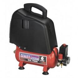 Sealey Compressor 6ltr Belt Drive 1.5hp Oil Free